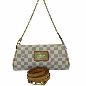 d84da8064b7d LOUIS VUITTON Damier Azur Eva Clutch Crossbody Bag